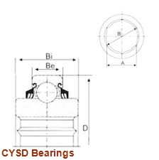 15,875 mm x 34,925 mm x 8,73 mm  CYSD R10-ZZ deep groove ball bearings