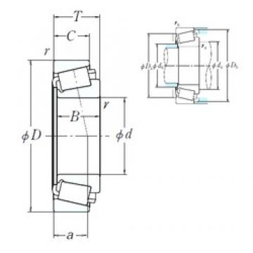 317,5 mm x 444,5 mm x 61,912 mm  NSK EE291250/291749 cylindrical roller bearings
